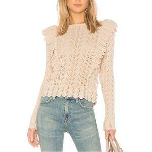 LoveShackFancy Ruffle Pullover Sweater  NWT XS